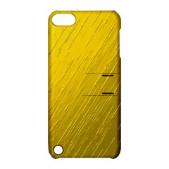Golden Texture Rough Canvas Golden Apple Ipod Touch 5 Hardshell Case With Stand