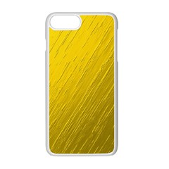 Golden Texture Rough Canvas Golden Apple Iphone 7 Plus Seamless Case (white) by Nexatart