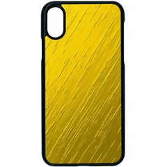 Golden Texture Rough Canvas Golden Apple Iphone X Seamless Case (black)