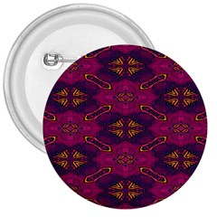 Pattern Decoration Art Abstract 3  Buttons