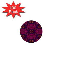 Pattern Decoration Art Abstract 1  Mini Buttons (100 Pack)