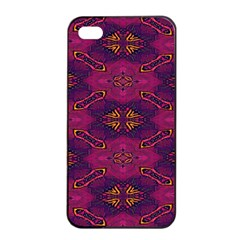 Pattern Decoration Art Abstract Apple Iphone 4/4s Seamless Case (black) by Nexatart