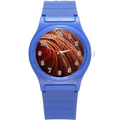 Abstract Fractal Digital Art Round Plastic Sport Watch (s)