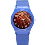 Abstract Fractal Digital Art Round Plastic Sport Watch (S) Front