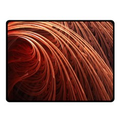 Abstract Fractal Digital Art Double Sided Fleece Blanket (small)