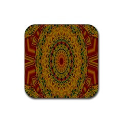 India Mystic Background Ornamental Rubber Coaster (square)  by Nexatart
