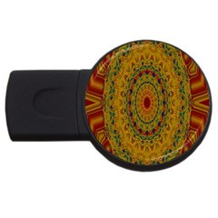 India Mystic Background Ornamental Usb Flash Drive Round (4 Gb)