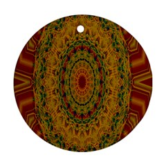 India Mystic Background Ornamental Round Ornament (two Sides)
