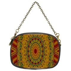 India Mystic Background Ornamental Chain Purses (one Side)