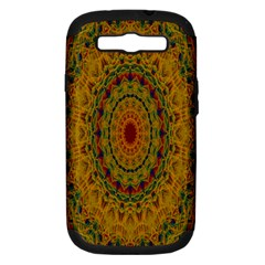 India Mystic Background Ornamental Samsung Galaxy S Iii Hardshell Case (pc+silicone)