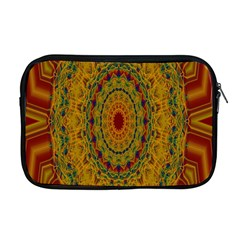 India Mystic Background Ornamental Apple Macbook Pro 17  Zipper Case