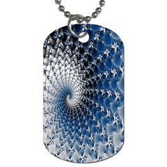 Mandelbrot Fractal Abstract Ice Dog Tag (one Side) by Nexatart