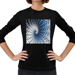 Mandelbrot Fractal Abstract Ice Women s Long Sleeve Dark T Shirts