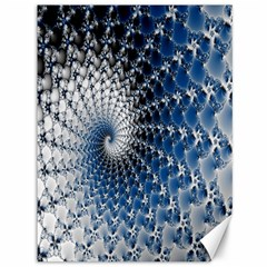 Mandelbrot Fractal Abstract Ice Canvas 36  X 48