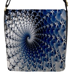 Mandelbrot Fractal Abstract Ice Flap Messenger Bag (s) by Nexatart