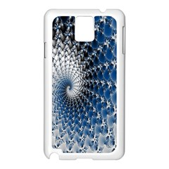Mandelbrot Fractal Abstract Ice Samsung Galaxy Note 3 N9005 Case (white) by Nexatart