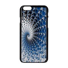 Mandelbrot Fractal Abstract Ice Apple Iphone 6/6s Black Enamel Case by Nexatart