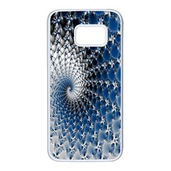 Mandelbrot Fractal Abstract Ice Samsung Galaxy S7 White Seamless Case by Nexatart