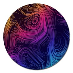 Abstract Pattern Art Wallpaper Magnet 5  (round)