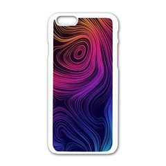 Abstract Pattern Art Wallpaper Apple Iphone 6/6s White Enamel Case