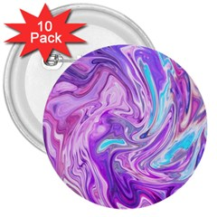 Abstract Art Texture Form Pattern 3  Buttons (10 Pack)  by Nexatart