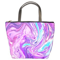 Abstract Art Texture Form Pattern Bucket Bags