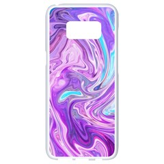 Abstract Art Texture Form Pattern Samsung Galaxy S8 White Seamless Case by Nexatart