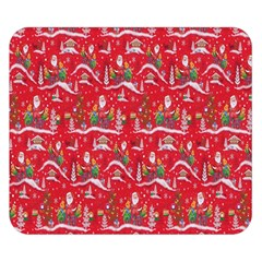 Red Background Christmas Double Sided Flano Blanket (small)  by Nexatart