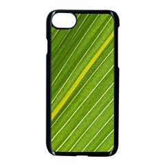Leaf Plant Nature Pattern Apple Iphone 8 Seamless Case (black) by Nexatart