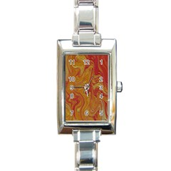 Texture Pattern Abstract Art Rectangle Italian Charm Watch