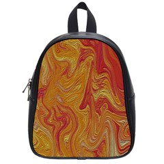 Texture Pattern Abstract Art School Bag (small)