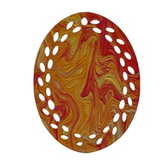 Texture Pattern Abstract Art Ornament (oval Filigree)
