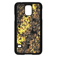 The Background Wallpaper Gold Samsung Galaxy S5 Case (black)