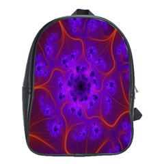 Fractal Mandelbrot Julia Lot School Bag (large) by Nexatart