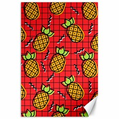 Fruit Pineapple Red Yellow Green Canvas 24  X 36  by Alisyart