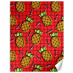 Fruit Pineapple Red Yellow Green Canvas 36  X 48   by Alisyart