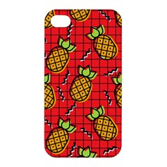 Fruit Pineapple Red Yellow Green Apple Iphone 4/4s Hardshell Case by Alisyart