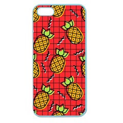 Fruit Pineapple Red Yellow Green Apple Seamless Iphone 5 Case (color)