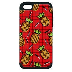 Fruit Pineapple Red Yellow Green Apple Iphone 5 Hardshell Case (pc+silicone) by Alisyart