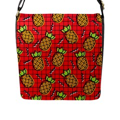 Fruit Pineapple Red Yellow Green Flap Messenger Bag (l)  by Alisyart
