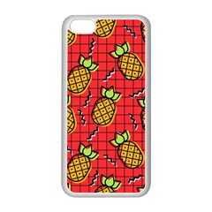 Fruit Pineapple Red Yellow Green Apple Iphone 5c Seamless Case (white) by Alisyart