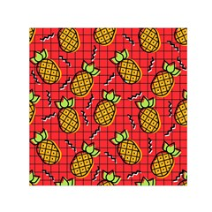 Fruit Pineapple Red Yellow Green Small Satin Scarf (square)