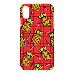 Fruit Pineapple Red Yellow Green Apple Iphone X Hardshell Case by Alisyart