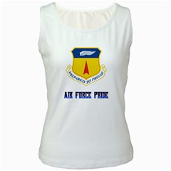 36th Wing Air Force Pride Women s White Tank Top