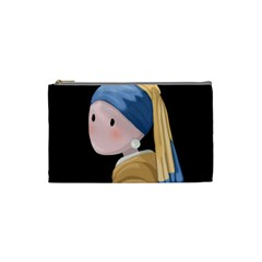 Girl With A Pearl Earring Cosmetic Bag (small)