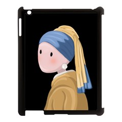 Girl With A Pearl Earring Apple Ipad 3/4 Case (black)