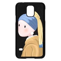 Girl With A Pearl Earring Samsung Galaxy S5 Case (black)