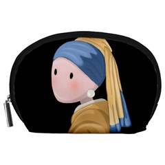Girl With A Pearl Earring Accessory Pouches (large)  by Valentinaart