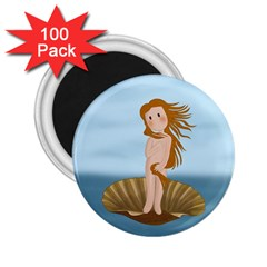 The Birth Of Venus 2 25  Magnets (100 Pack)