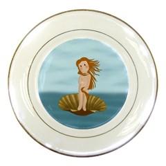 The Birth Of Venus Porcelain Plates by Valentinaart